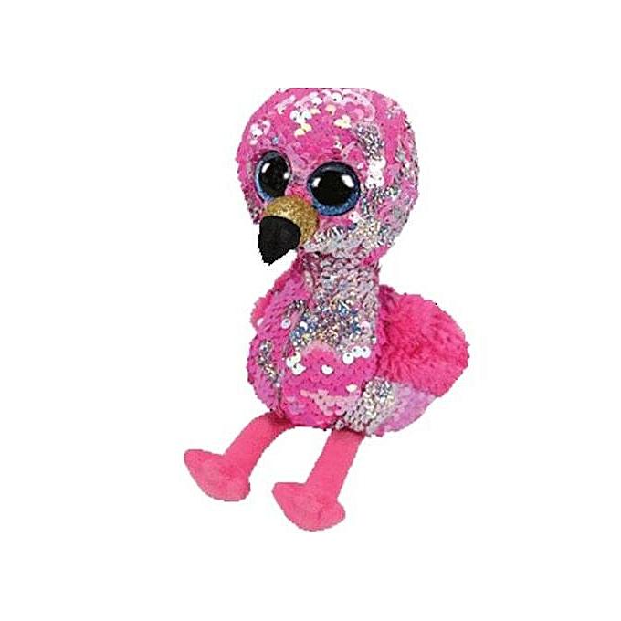 Autre Ty Beanie Boos Flippables Animal Plush Toys Doll Malibu The Cat Moonlumière The Owl Jewel the Fox Best Christmas 15cm(Flamingo) à prix pas cher
