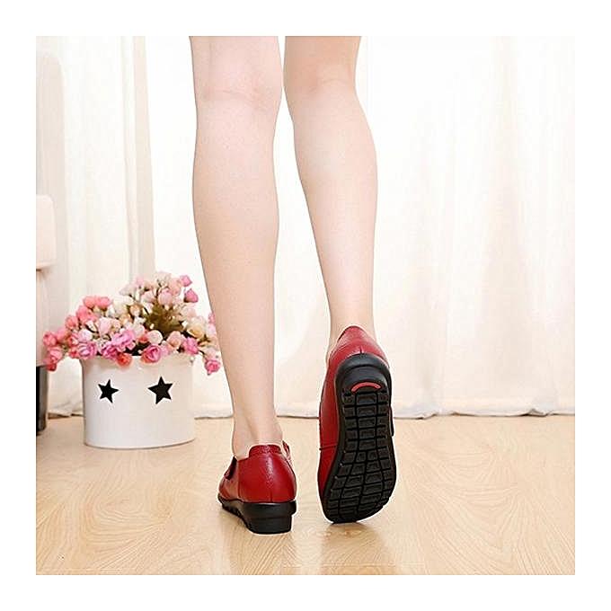 Fashion Fashion WoHommes  Big Size Size Size Buckle Leather Hook Loop Soft Flat Casual Loafers à prix pas cher  | Jumia Maroc 5e6636