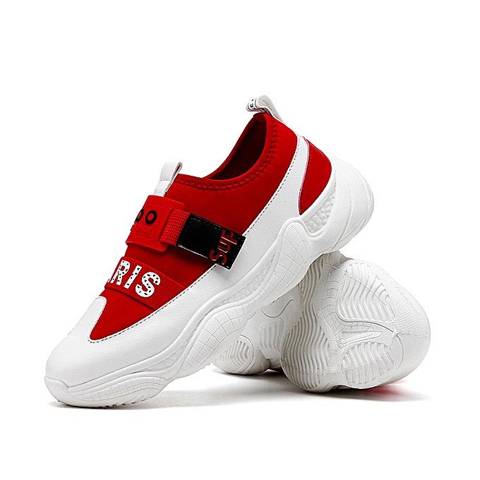 Fashion Men's breathable fashion baskets-rouge à prix pas cher