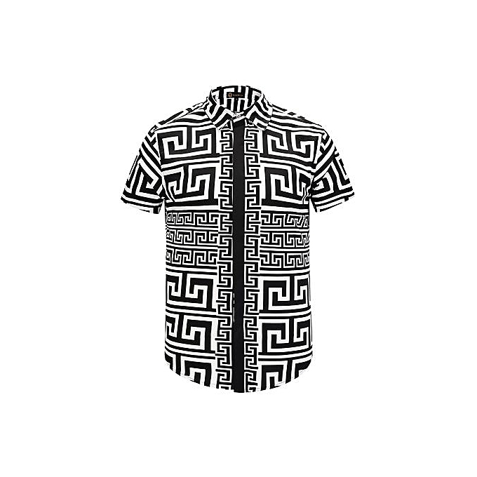 AFankara Ankara Tops,Mens Luxury Sleeves Shirt-Multi à prix pas cher