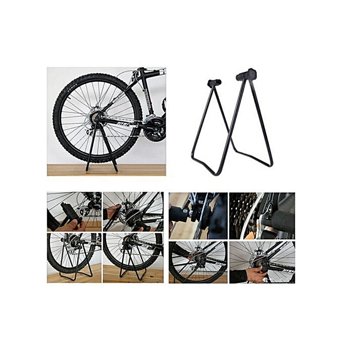 Generic Haojks Bike Bicycle Wheel Holder Repair Stand Parking Hub Kickstand Folding Cycling à prix pas cher