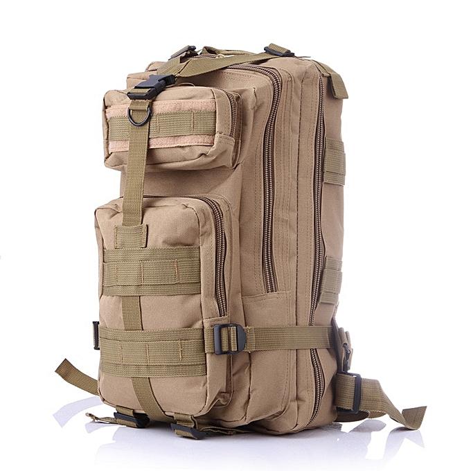 Other 600D Nylon Hommes femmes  sac à dos Décontracté Camo sac imperméable voyage sac(Khaki) à prix pas cher