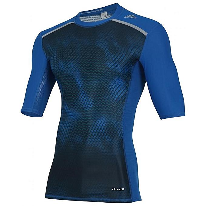 0499bb9324c54 Adidas T-shirt à manches courtes adidas Techfit Chill Graphic pour ...