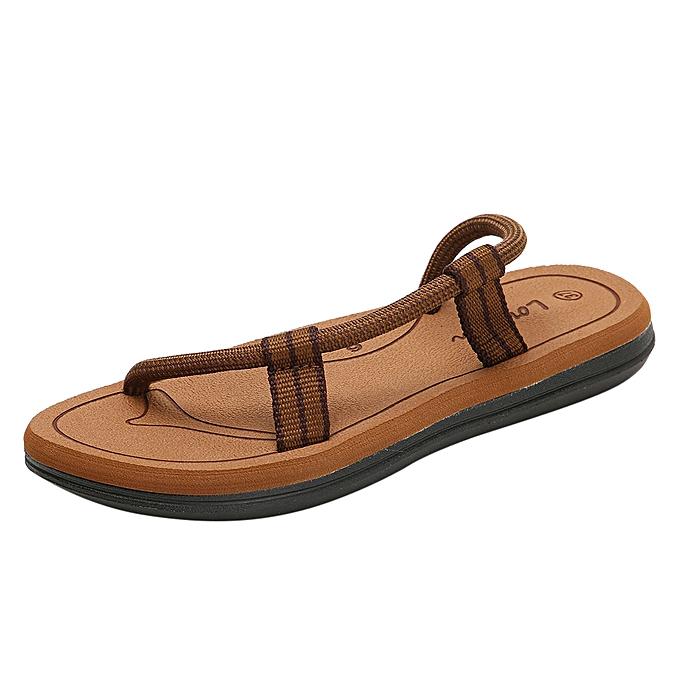 mode femmes été Couples Décontracté Flats Pour des hommes AntisEnfant Sandals plage chaussures à prix pas cher