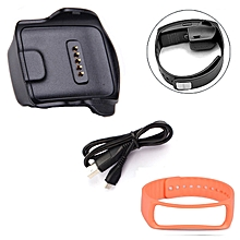 Charge Dock for Samsung Galaxy Gear Fit R350 Watch +Cable+Wrist Strap OR
