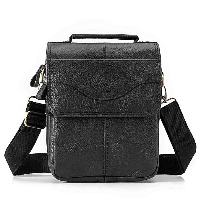 Other Leather Male Fashion Casual Tote Messenger bag Design Satchel Crossbody One Shoulder bag 8  Tablet Case For Men 144d(noir) à prix pas cher