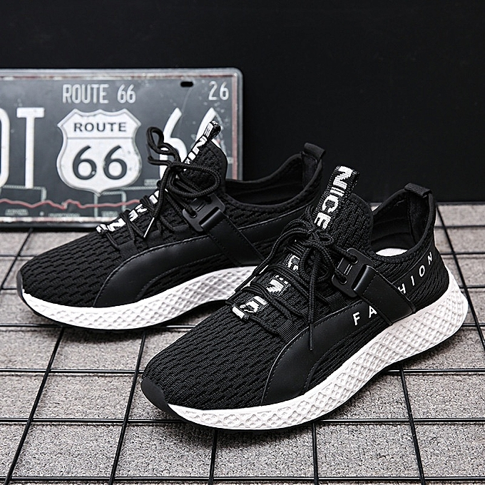 Other Stylish Spring Casual Sports Running chaussures Men Coconut chaussures-noir blanc à prix pas cher