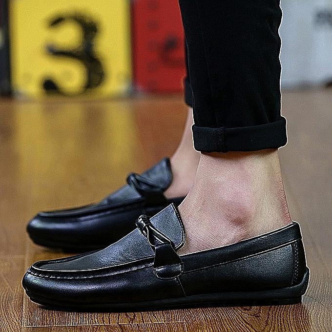 Fashion Stylish British Tide Soft Leather Loafers - noir à prix pas cher    Jumia Maroc