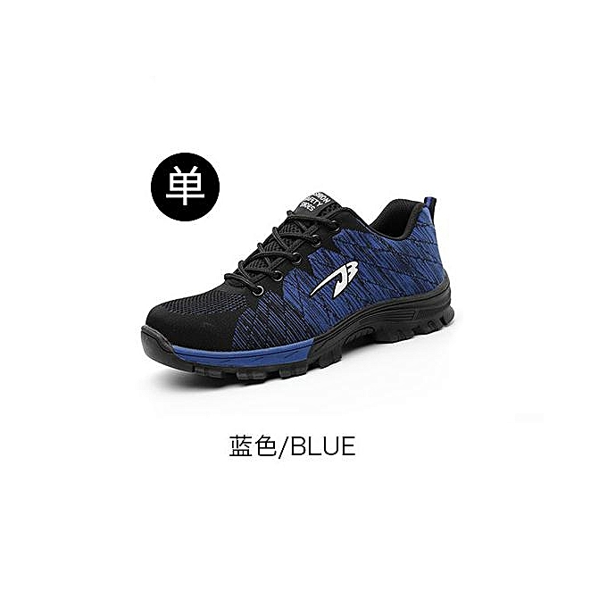 OEM Breathable safety chaussures, flying woven sports, anti-smashing and puncture safety chaussures, labor insurance chaussures-bleu à prix pas cher