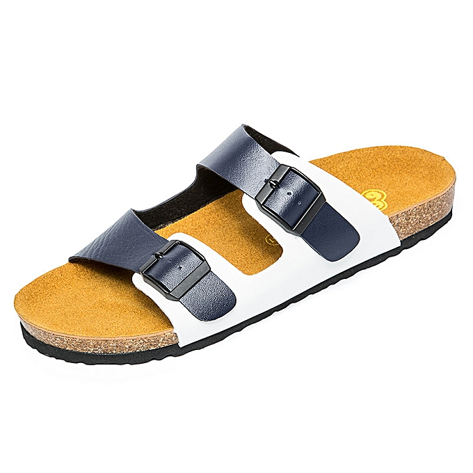 mode Hommes's Slippers Cork de plein air Leisure Slippers - bleu à prix pas cher