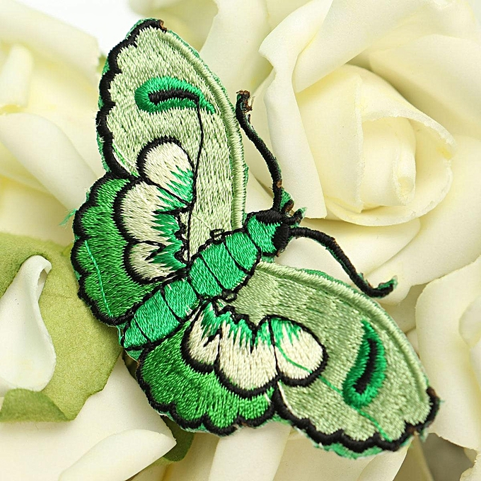 UNIVERSAL Butterfly Embroidery DIY Fabric Sticker Embroidery Patch Clothes Bags Ornament à prix pas cher