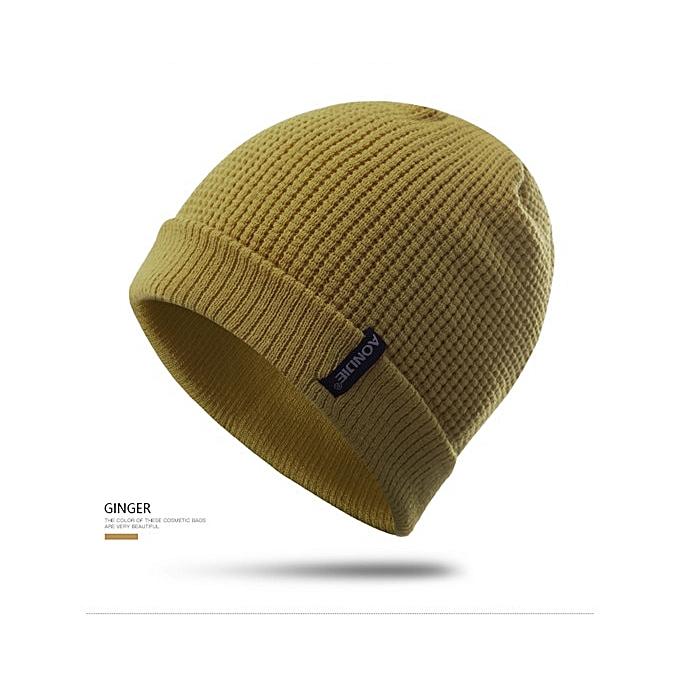 AONIJIE Winter Hats Hip Hop Knitted Hat Ski Beanie Running Caps Warmer Bonnet For Men and femmes(jaune) à prix pas cher