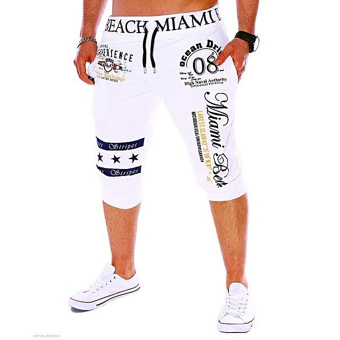 Other nouveau mode grand Taille Digital impression Cropped Pants Hommes& 039;s Letters Sports Pants à prix pas cher