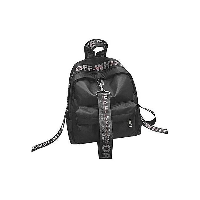 Generic Solid Couleur Wohommes sac à doss Décontracté Oxford Cloth  Teenage Girls School sacs noir à prix pas cher