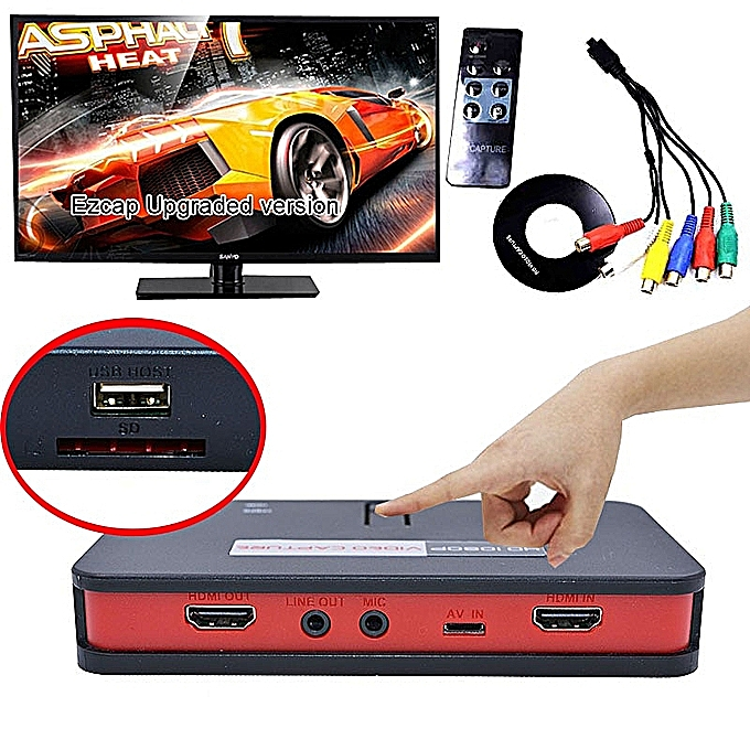 OBS Live Broadcast Game Video Capture EZCAP 284 HDMI YPbPr Recorder For  XBox PS3 PS4 TV Box Camcorder Meeting Video Recording