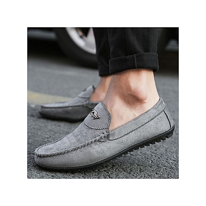 Fashion  s Suede Slip-On Moccasins Driving Driving Moccasins Shoes-Grey à prix pas cher  | Jumia Maroc ac3a56