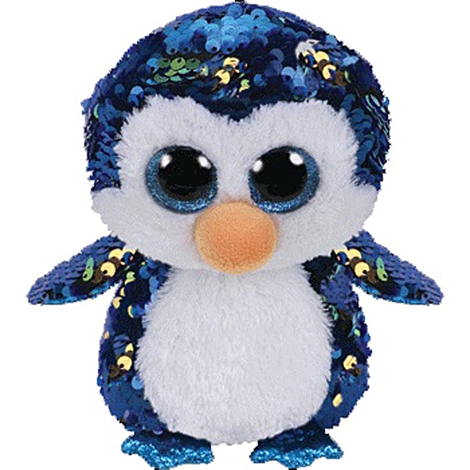 Autre Ty Beanie Boos Sequin Animal Plush Toys Doll Cat Owl Fox Bunny Unicorn Best Christmas Gift 15cm(Penguin) à prix pas cher