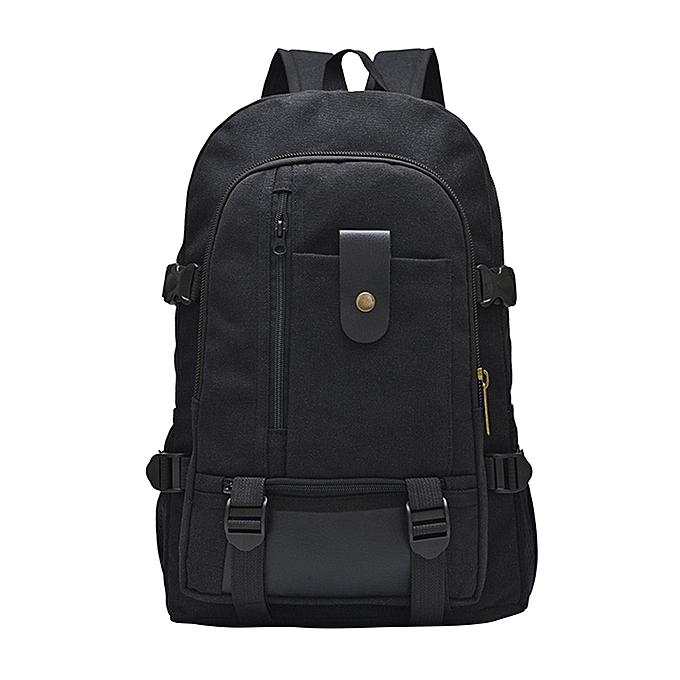 Generic Excellent grand capacité sac à dos Leisure voyage Solid Couleur toile sac à dos Student sacBK à prix pas cher