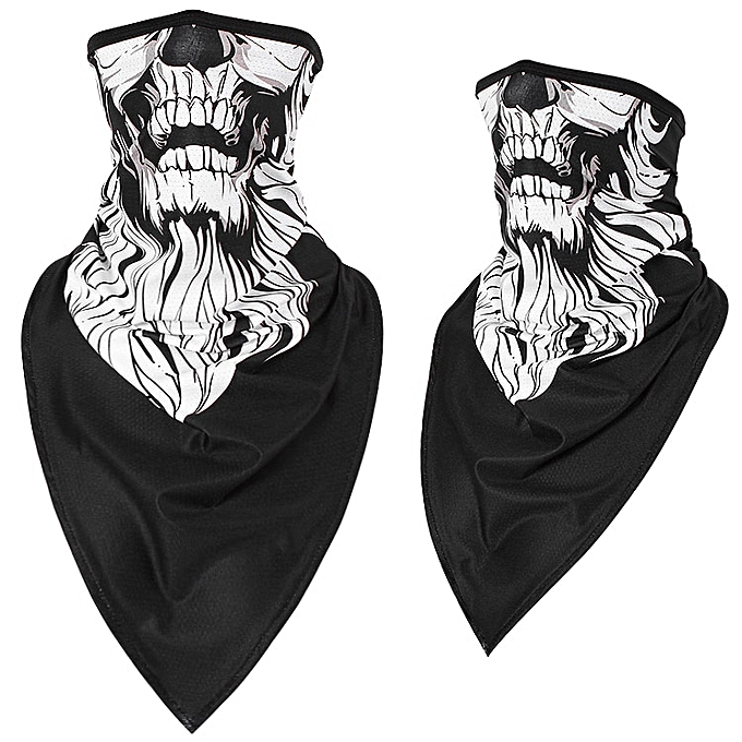 Autre Motorcycle Face Mask Breathable Balaclava Halloween Moto Bike Ski Skull Half Face Mask Scarf Multi Use Neck Warmer Triangle Mask( 104BH) à prix pas cher