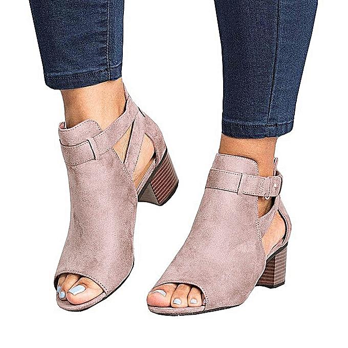 Fashion Summer Ladies femmes Sandals Fashion Fish Mouth Hollow Out Roma chaussures-rose à prix pas cher    Jumia Maroc