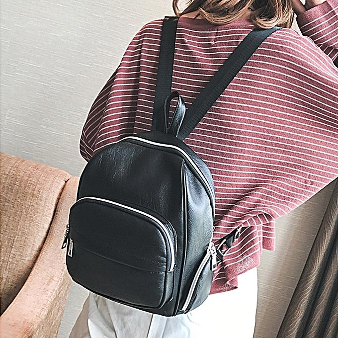 mode femmes Décontracté Solid sac à dos Double Shoulder sac Zipper sac School voyage sac à prix pas cher