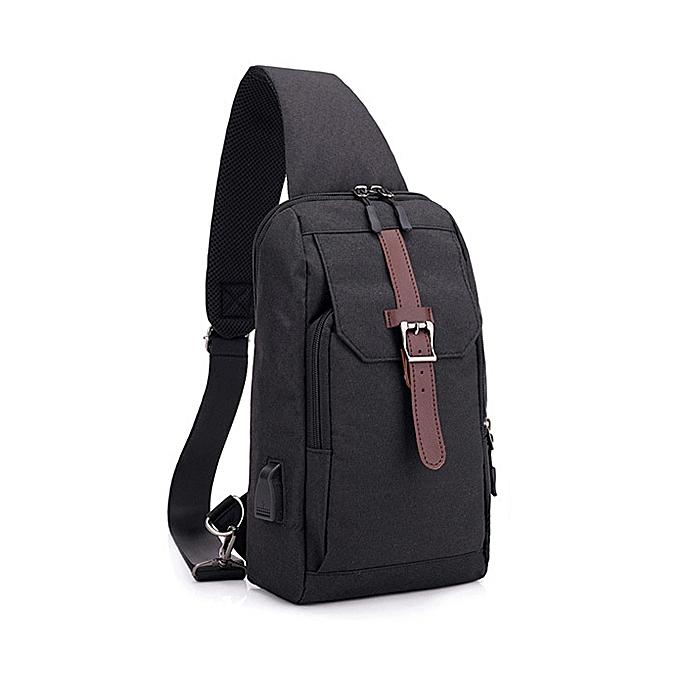 Fashion Men Oxford Personalized Crossbody Bag Chest Bag Outdoor Travel Bag à prix pas cher