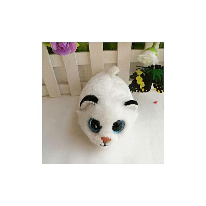 Autre Ty Teeny Tys 4&10cm Curly Pig Owl Unicorn Dog Cat Lion penguin Husky Fox Plush Stuffed Animal Collectible Soft Big Eyes Doll Toy(Sky bleu) à prix pas cher
