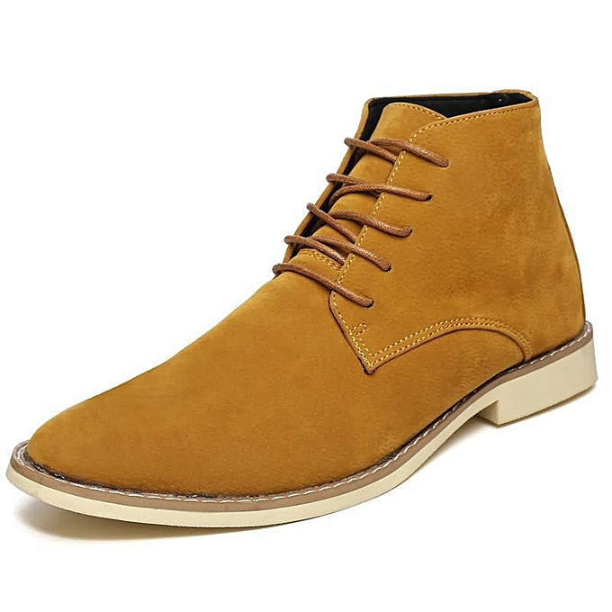 Fashion Men's High Help Fashion Casual Martin bottes - jaune à prix pas cher