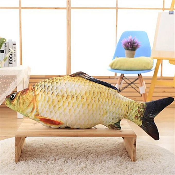 Autre 30 40 60cm Fish Plush Toys Simulation Fish Soft Crucian Carp Stuffed Animals Dolls Cartoon oren Fish Pillow Gift for Kids Toy(fish) à prix pas cher