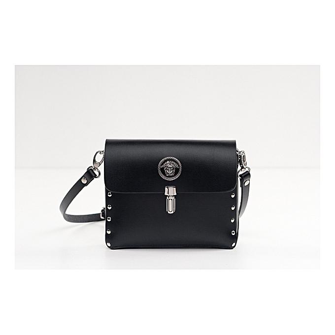 Other 100%  cuir sac Designer Shoulder sacs Osac Mobile Phone Holder Wohommes Handsacs bandoulière sacs noir blanc Top Quality(noir) à prix pas cher