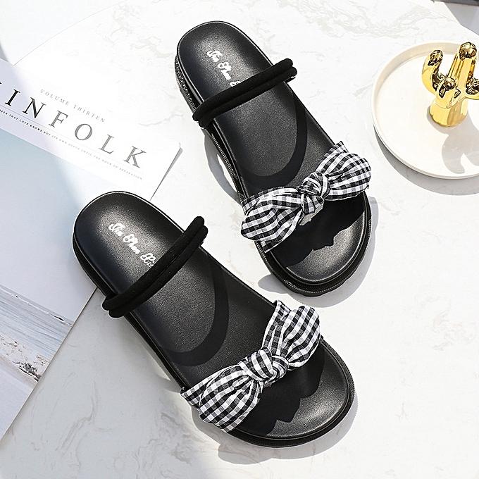 OEM Fashion  's casual round head bow bow bow female sandals à prix pas cher  | Jumia Maroc e349bd