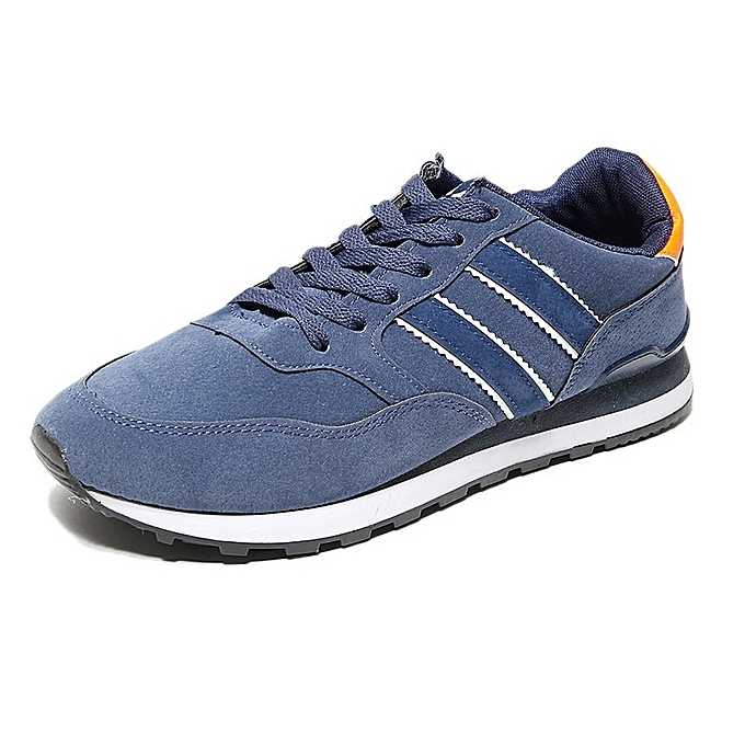 Other Sports Wind Men's casual breathable light running Porcine chaussures -bleu à prix pas cher