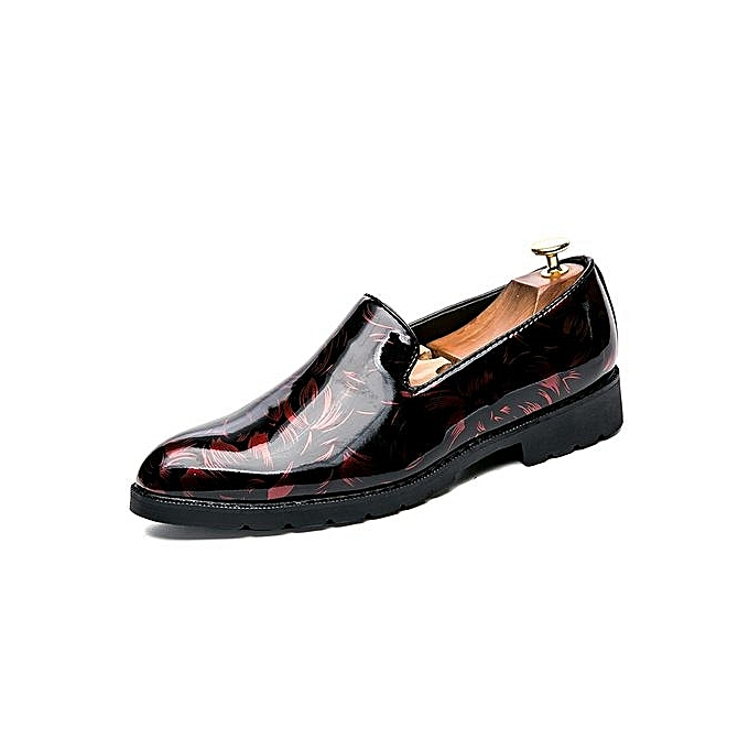 Zant  's Casual Genuine Leather Formal Shoes Shoes Gift Slip On Flat Loafers Driving Shoes Shoes Dress Black-Red à prix pas cher  | Jumia Maroc c4bf07