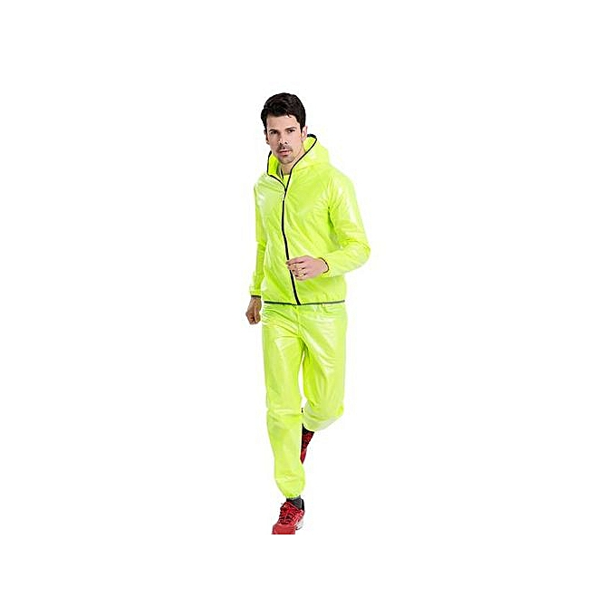 Generic Haojks-Men femmes Windproof Waterproof Jacket Bike Bicycle Outdoor Sports Rain Coat L à prix pas cher