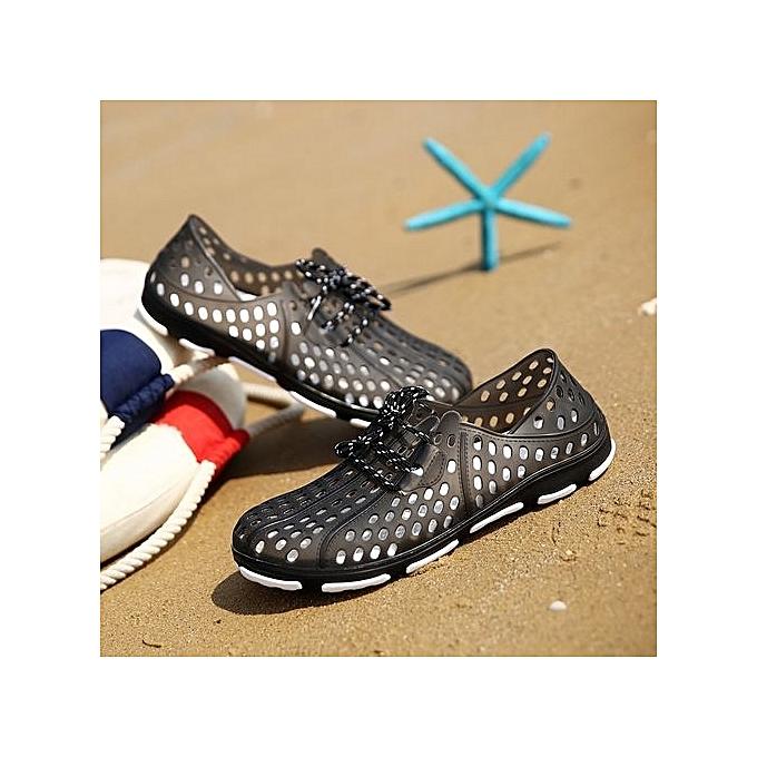 Zant Summer Couple Beach Sandals Men Outdoor Garden chaussures Casual Unisex Slippers Water chaussures Beach Flip Flops Croc Clogs noir à prix pas cher    Jumia Maroc