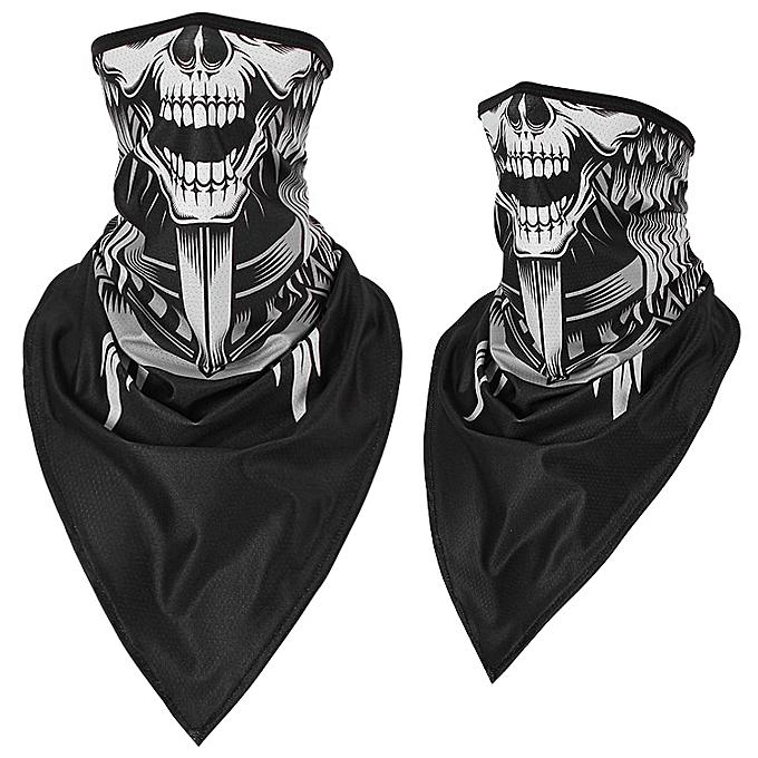 Autre Halloween Scarf Mask Summer Motorcycle Face Shield Skull Ghost Windproof Sun Mask Balaclava Bicycle Bike Neck Warmer Ice Silk( 304XL Ice silk) à prix pas cher