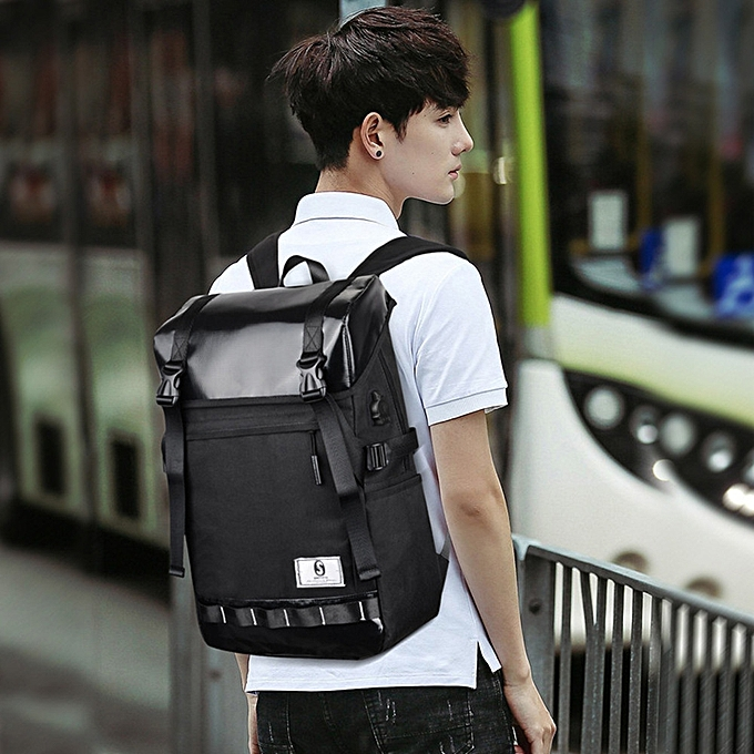 mode Tcetoctre Hommes's Oxford Luminous High-capacité School sac voyage sac à dos sac BK-noir à prix pas cher