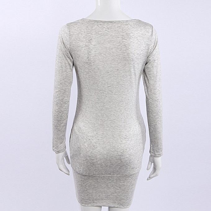 mode femmes nouveau Trendy Décontracté Autumn Winter Package Hip Robe  BG L à prix pas cher