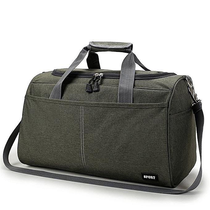 Other voyage sac portable mode hommes solid Couleur grand Taille petit voyage clothing storage sac ladies leisure voyage sac(vert  big) à prix pas cher
