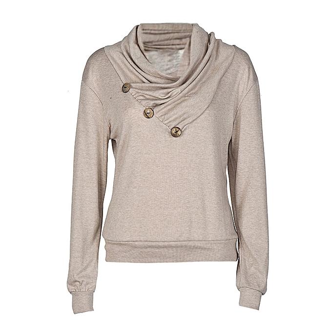Fashion Meibaol store femmes Autumn Winter Scarf Collar Blouse Long SleeveTops T-shirt KH S à prix pas cher