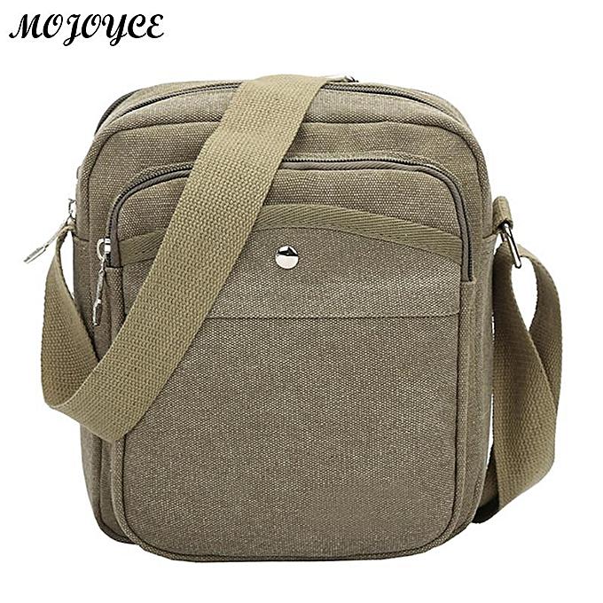 Other Fashion Canvas Men Zipper Shoulder Bag High Quality Crossbody Bag noir Khaki marron Handbag Men Bag Male Clutches Messenger Bags(2) à prix pas cher
