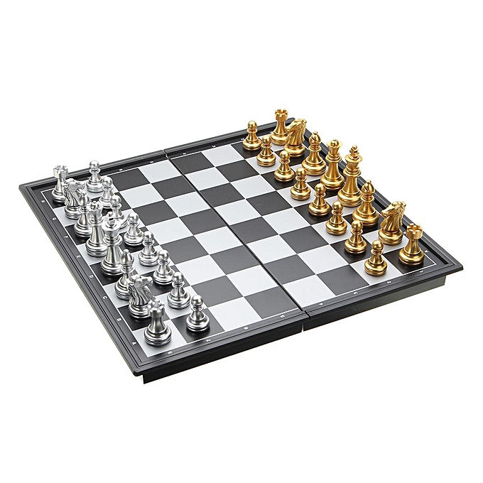 OEM [Libre Shiping+Flash Deal]portable Magnetic Folding Chessboard Chess Board Box Set Enfants Game Toy voyage à prix pas cher