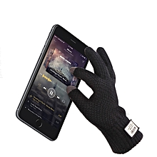 d12343c443bfde iwinter Winter Autumn Men Bike Knitted Gloves Touch Screen Male Thicken  Warm Wool Cashmere Solid Gloves