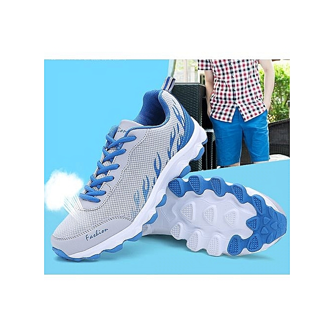 Fashion   WoHommes  Running Shoes Breathable Runner Runner Runner Athletic Sneakers   Outdoor Sports Walking Shoes- Grey à prix pas cher  | Jumia Maroc a8f446