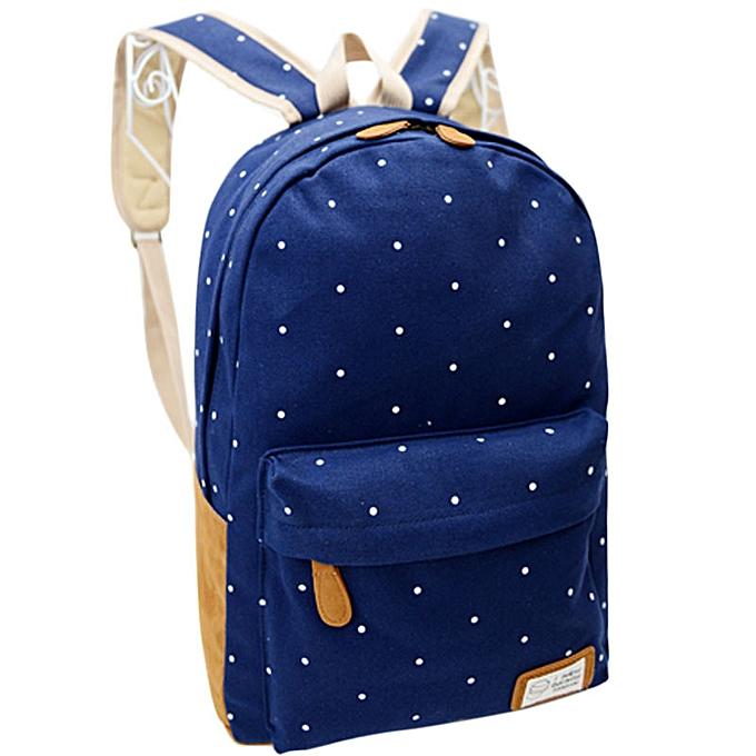 Fashion Singedan Shop femmes Girl Canvas Rucksack Polka Dot Backpack School Book Shoulder Bag BU à prix pas cher