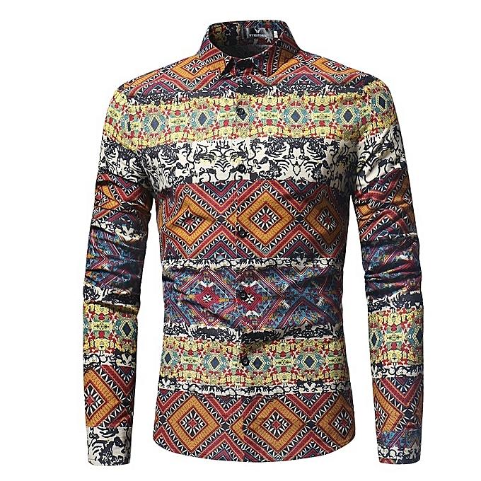 Other Stylish 2018 New Men's Wear Contrast Couleur Floral Print Shirt à prix pas cher