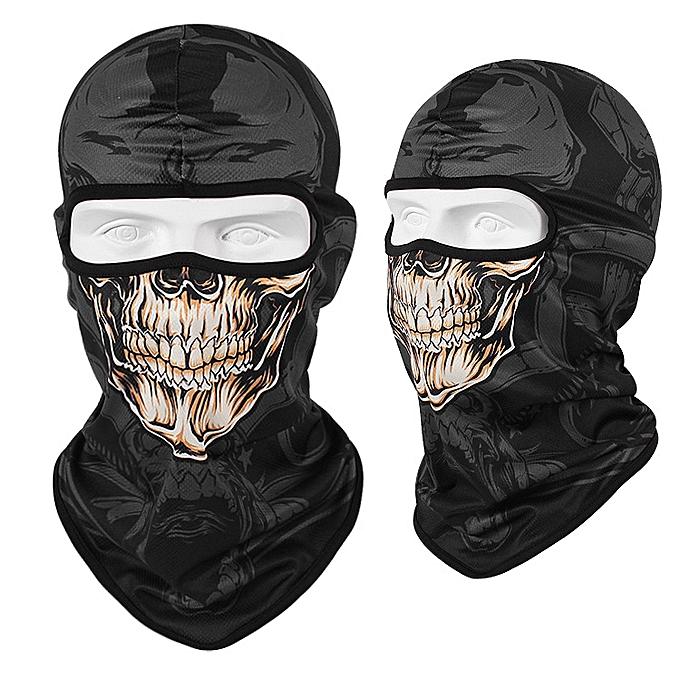 Autre WOSAWE 3D Skull Motorcycle Balaclava Full Face Mask Warmer Motor Helmet Liner Ski Paintball Snowboard Biker Riding Shield Hood( CS1JS) à prix pas cher