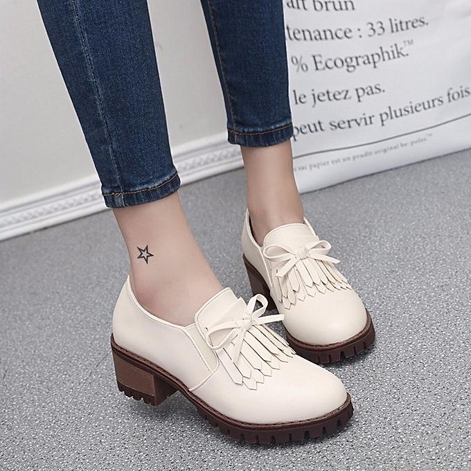 Autre Stylish 5cm Single Middle Heel Tassel Single 5cm Shoes à prix pas cher  | Jumia Maroc 5defa6