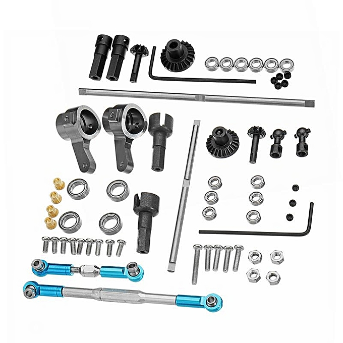UNIVERSAL WPL Truck Update Metal Gear Bridge Axle Full Set For B1 B24 B16 C24 1 16 4WD 6WD RC voiture Parts à prix pas cher