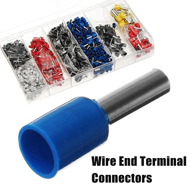 UNIVERSAL 1200 Wire End Terminal Connectors Crimping Tool Kit à prix pas cher